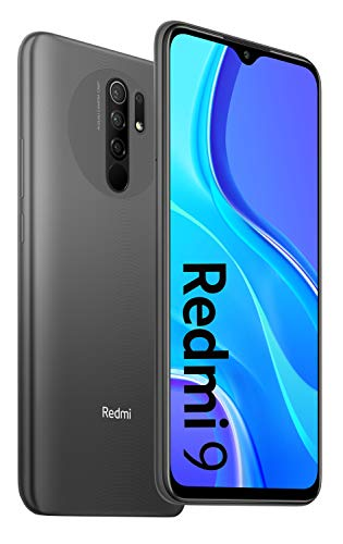 XIAOMI Redmi 9 4GB+64GB Carbon Grey, Official UK Version + 2 Year Xiaomi Warranty