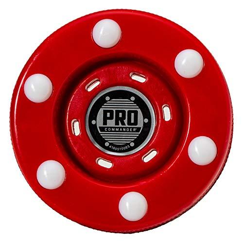 FRANKLIN - Pro Commander Streethockey-Puck NHL I Puck für Roller- und Inlinehockey I Outdoor Puck mit geringer Reibung I speziell gedämpftes Kernmaterial - Rot