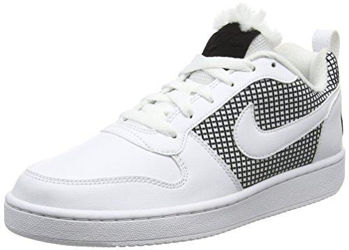 Nike Nike Damen Court Borough Se Basketballschuhe, Elfenbein (White/White/Black), 36 EU