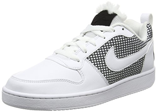 Nike Nike Damen Court Borough Se Basketballschuhe, Elfenbein (White/White/Black), 40 EU