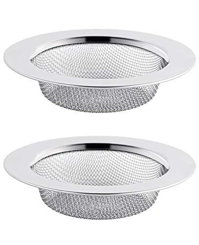 Abflusssieb Edelstahl Rostfrei 2er Set, 7.5CM Haarsieb Dusche, Waschbecken Sieb Abfluss Spüle, Abfluss-Sieb Sink Strainer für Küche