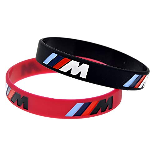 2 pcs M Power Silicone Wristband Bangles For BMW Club Fans