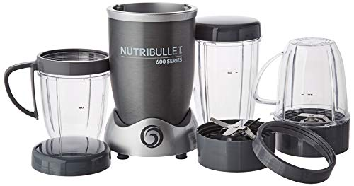 NutriBullet NBR-1240M - Set base per frullatore, 600 W, Grigio (Regulare) [Classe di efficienza energetica a]