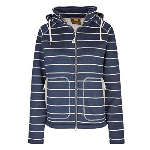 Michael Heinen - Chaqueta de forro polar para mujer con capucha, impermeable azul marino S