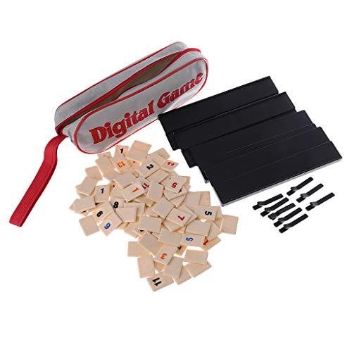 S-TROUBLE Juego Digital de 2-4 Personas Israel Mahjong Fast Moving Rummy Tile Juego Familiar Versión portátil de Viaje Juego de Mesa clásico para el hogar