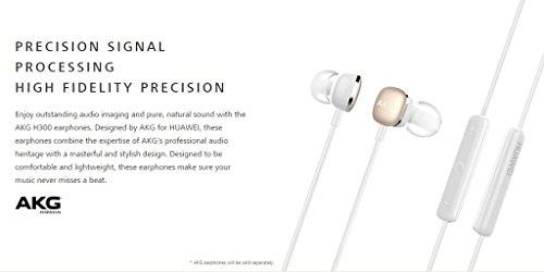 AKG by Harman H300 - Auriculares in-Ear con micrófono y Mando a Distancia para Huawei (3,5 mm), Color Blanco