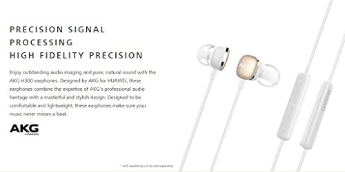AKG door Harman H300 3.5mm In-Ear Hoofdtelefoon met MIC & afstandsbediening voor Huawei (wit) 1 jaar garantie