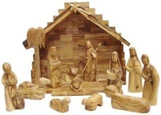 Olive Wood Nativity Set- Modern Style