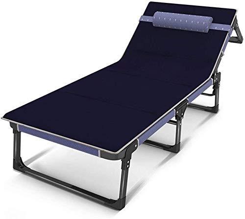 GJJSZ Tumbonas Silla de Playa Sillón reclinable Sillón reclinable Sábanas Plegables Personas Almuerzo Cama Silla de Oficina Sillón reclinable Multifuncional portátil(Color:B)