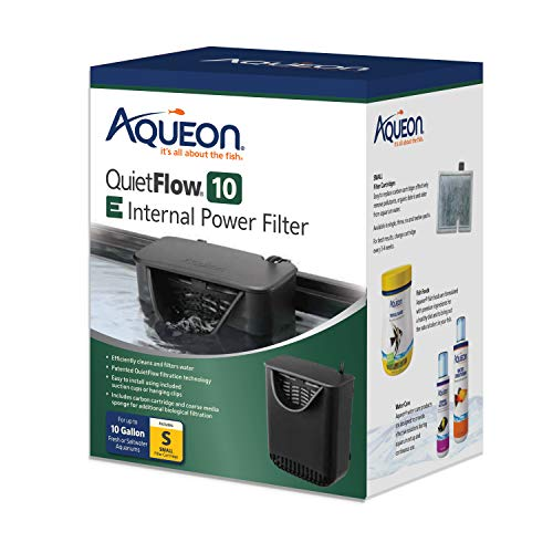 Aqueon 100106991 Quietflow E Internal Power Filter, Black,10 gallon