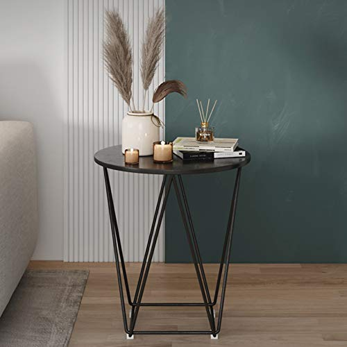 ZRN End Table, Modern Side Table with Metal Frame, Coffee Laptop Table for Living room, Bedroom, Balcony