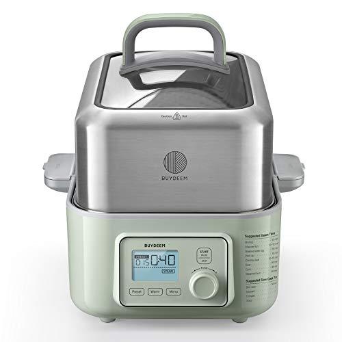 BUYDEEM G563 5 cuartos de galón de vapor eléctrico para cocinar, vaporizador...