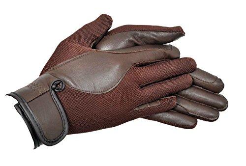 Riders Trend Donna Airmesh/Guanti da Equitazione in Pelle, Donna, AirMesh/Leather, Marrone
