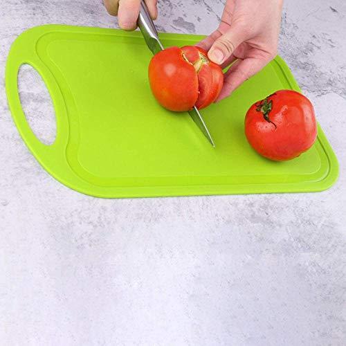 Tabla de cortar de plástico para carne y verduras, antideslizante, antidesbordamiento con tabla de cortar para colgar