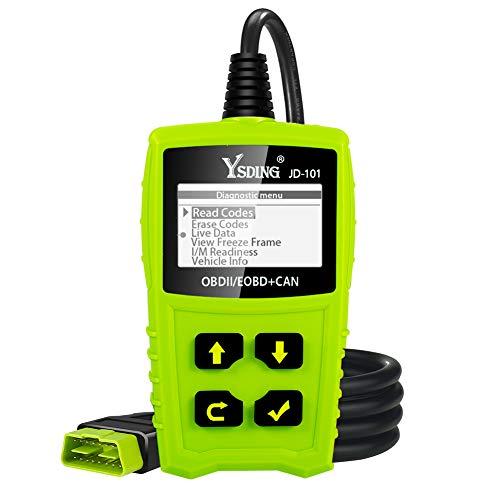 OBD2 de diagnóstico automático Escáner OBDII para todos los vehículos desde 2000 con modos OBD2 / EOBD / CAN para leer y borrar el código de error y la prueba de batería