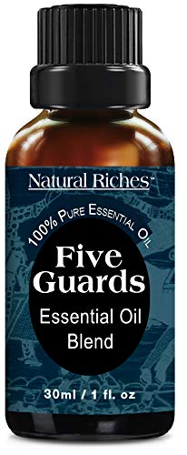 Natural Riches Five Guards Essential Oil Blend - Health Shield Aromatherapy - Clove Cinnamon Lemon Rosemary Eucalyptus Oil (1 Pack) 30ml