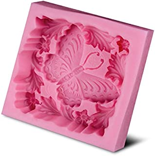 BAKER DEPOT Butterfly Soft Silicone Mold for Soap Handmade Soap Molds Fondant Mold Pink Color