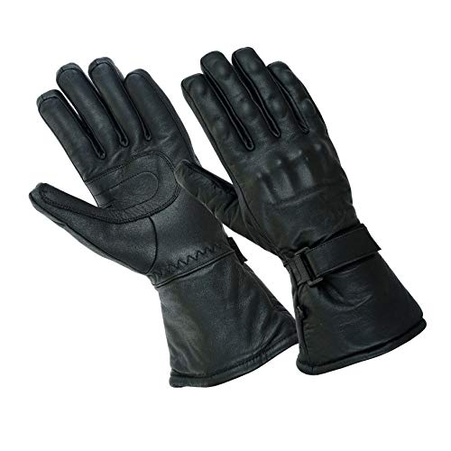 Gallanto Black Motorcycle Armored Thinsulate Leather Winter Gloves...