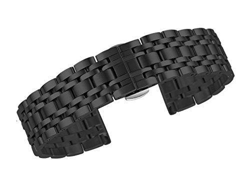15 millimetri rivestimento premio nero orologio ss sostituzione cinturino...