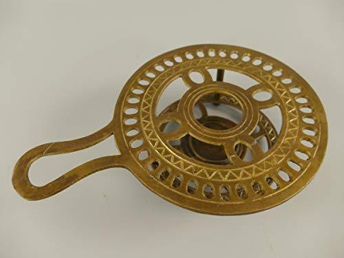 linoows Stövchen, Teewärmer, Warmhalteplatte im Antik.Stil Messing brüniert