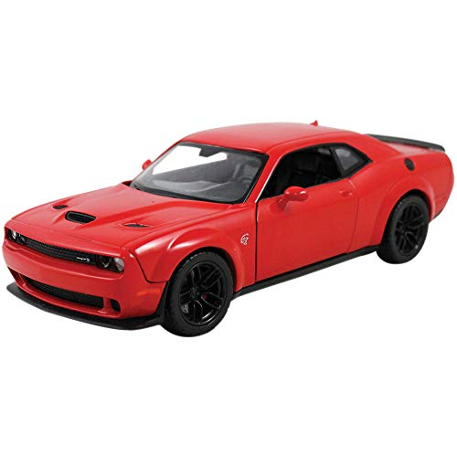 2018 Dodge Challenger SRT Hellcat Widebody Red 1/24 Diecast Model Car by Motormax 79350