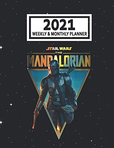 2021 Weekly & Monthly Planner: The Mandalorian The Child...