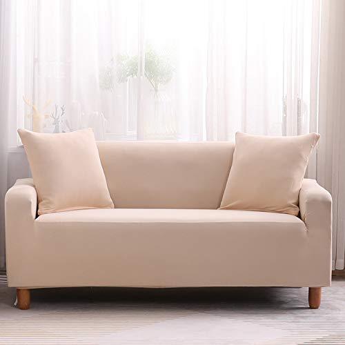 NOBCE Funda de sofá elástica Estirada Envoltura Ajustada Fundas de sofá Todo Incluido para Sala de Estar Funda de sofá Silla Funda de sofá Funda de Almohada Beige 90-140CM