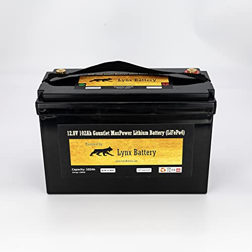 Lynx Battery 12V 100Ah Lithium Iron Phosphate LiFePO4 Battery, BMS, (68) 32700 High Redundancy HQR Cells, NOT 4 Budget Prismatic Cells, Provides Long Life/Heat Dissipation/Non Swelling