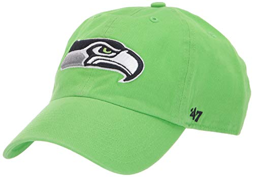 '47 NFL Seattle Seahawks Clean Up Adjustable Hat, One Size, Lime