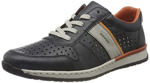 Rieker Herren Frühjahr/Sommer B5135 Sneaker, Blau (Atlantic/Cement/Aperol 15), 43 EU