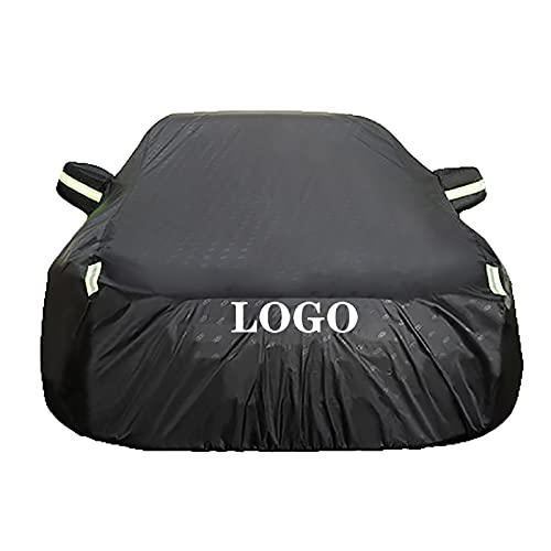 Compatible con la funda de coche Alfa Romeo Giulia, tela Oxford 918D, funda de sedán completa impermeable PU, 6 tiras reflectantes, personalización de coche ( Color : Black , Size : 2018 2.0T 200HP )