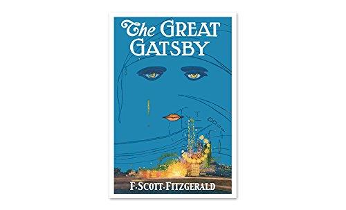 The Great Gatsby - Classic Book Art - 24x16 Matte Poster Print Wall Art