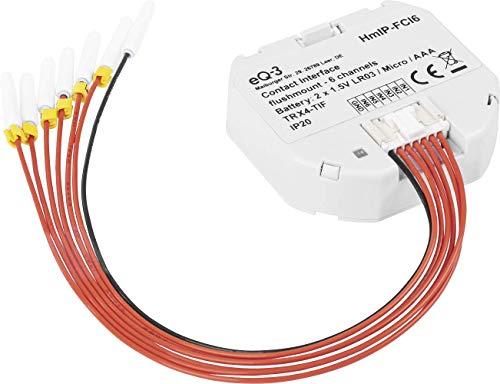 Homematic IP 153501A0 HmIP-FCI6 Kontakt-Schnittstelle, grau