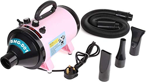 MVPOWER 2800W Cane Pet Pet Dog Drying Pet Dryer Pet Care Rosa, Intervallo di Temperatura Regolabile da Circa 20 a 75 Gradi, Evitare il Raffreddore del Cane in Inverno.
