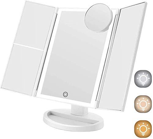 Espejos Con Luz Para Maquillaje Plegable espejos con luz para maquillaje  Marca FASCINATE