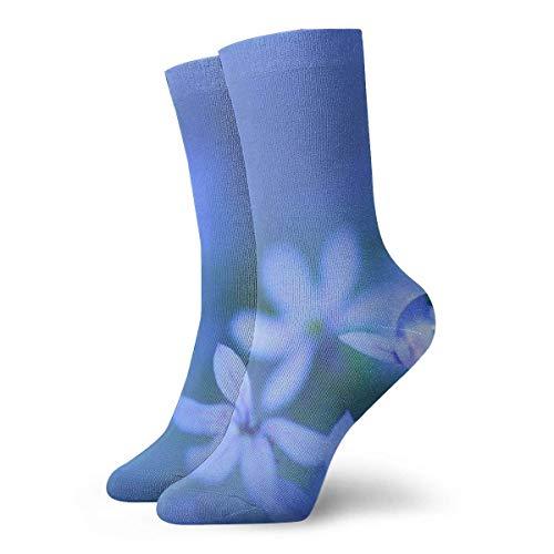 Socks Calcetines Blaue Süße Blumen Wasser Calcetines cortos unisex para adultos que absorben la humedad atléticos para correr, fitness, viajes, trabajo
