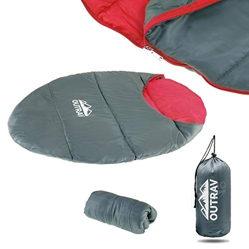 Outrav Dog Sleeping Bag - Camping Dog Bed - Extra Durable Waterproof Dog Sleeping Bag Bed - Packable Dog Bed for Camping, Hiking, Cottage and Beach – Portable Dog Bed with Stuff Sack (Red)