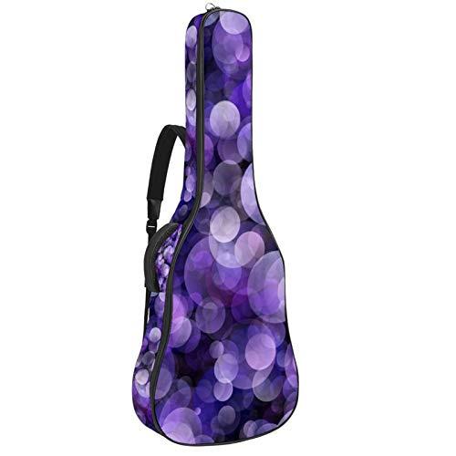 Bolsa de guitarra impermeable con cremallera suave para guitarra, bajo acústico y clásico folk guitarra eléctrica bolsa bokeh violeta