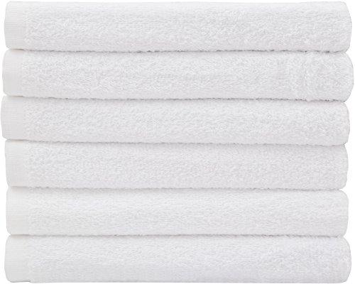 Hotel-Spa-Pool-Gym Cotton Hair & Bath Towel - 6 Pack, White, Super...