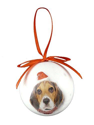 Christmas Direct-Palla per albero di Natale con animali, cane Beagle, dimensioni: 5 cm ((2') 5,08 cm)