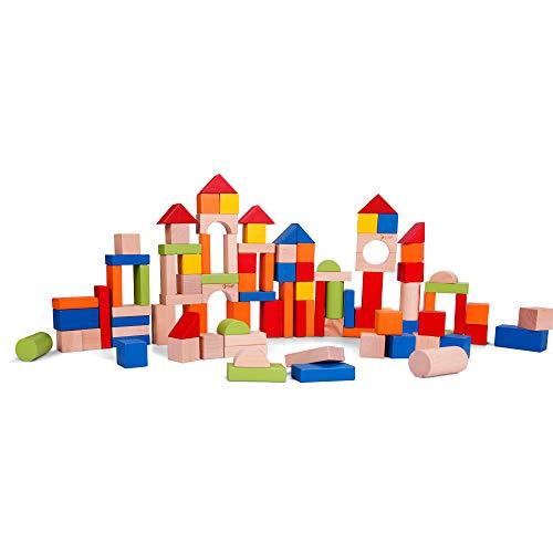 Classic World Toys Bloques De Madera 100 Unidades