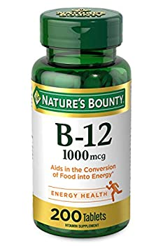 Vitamin B12 by Nature s Bounty Vitamin Supplement Supports Energy Metabolism and Nervous System Health 1000mcg 200 Tablets