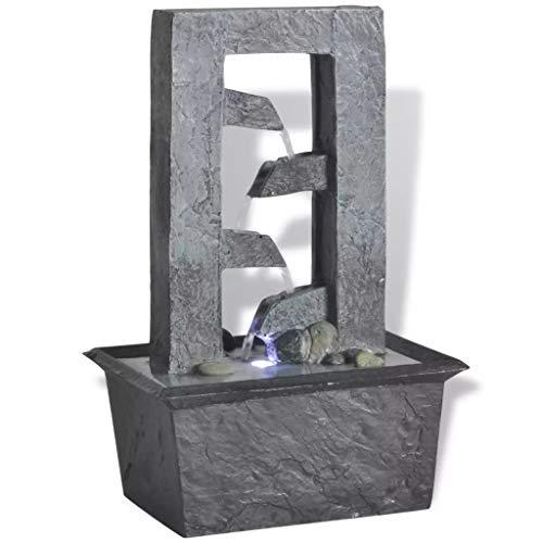 Zora Walter Heim LED Brunnen Garten Zimmerbrunnen mit LED-Licht Polyresin 2 W Teiche Wasserspiel with Ma?e: 15,8 x 11,8 x 24 cm