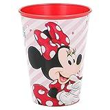 ILS I LOVE SHOPPING Set Bicchieri per Bambini 260 ml in plastica Senza BPA/Regalo per Ragazzi (Minnie Rosa Disney, Set 2 Bicchieri)