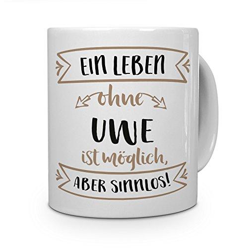 printplanet® Tasse mit Namen Uwe - Motiv Sinnlos - Namenstasse, Kaffeebecher, Mug, Becher, Kaffeetasse - Farbe Weiß