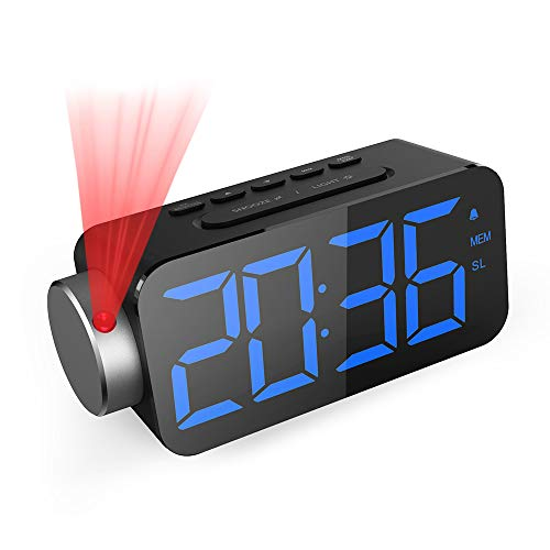 GlobaLink Projection Alarm Clock, Ceiling Digital Clock with Adjustable...