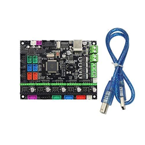 GOUJI Liupin Store 12 / 24V MKS Gen L V1.0 Rampas integradas 1.4 Controlador de Control de la Placa Base de la Placa Base para Accesorios de Piezas de Impresora 3D Fácil de Instalar