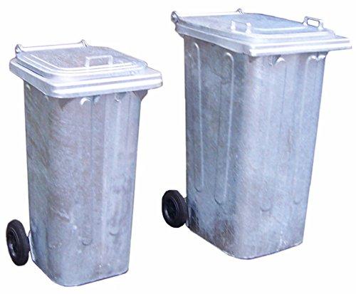Mülltonne aus feuerverzinktem Stahlblech Volumen von 120 Liter