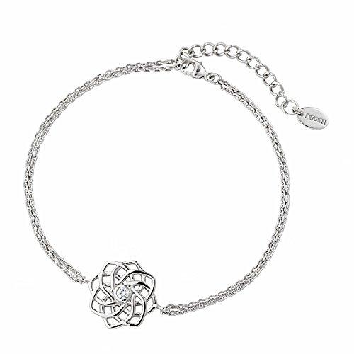 DOOSTI Damen Armband keltischer Knoten 925 Silber rhodiniert