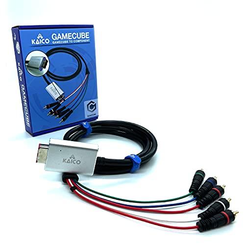 Cable adaptador de componente de GameCube para Nintendo GameCube con software GCVideo Lite. Admite video y audio completos. Una solución simple de adaptador Plug & Play GameCube de Kaico